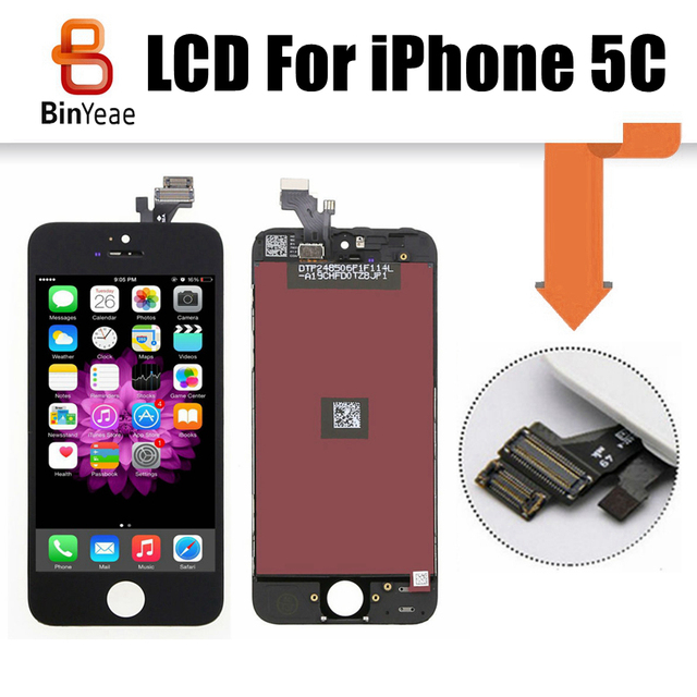 10pcs Cell Phone Parts For Iphone 5c Lcd Display Touch Screen Digitizer Assembly No Dead Pixel Free Shipping