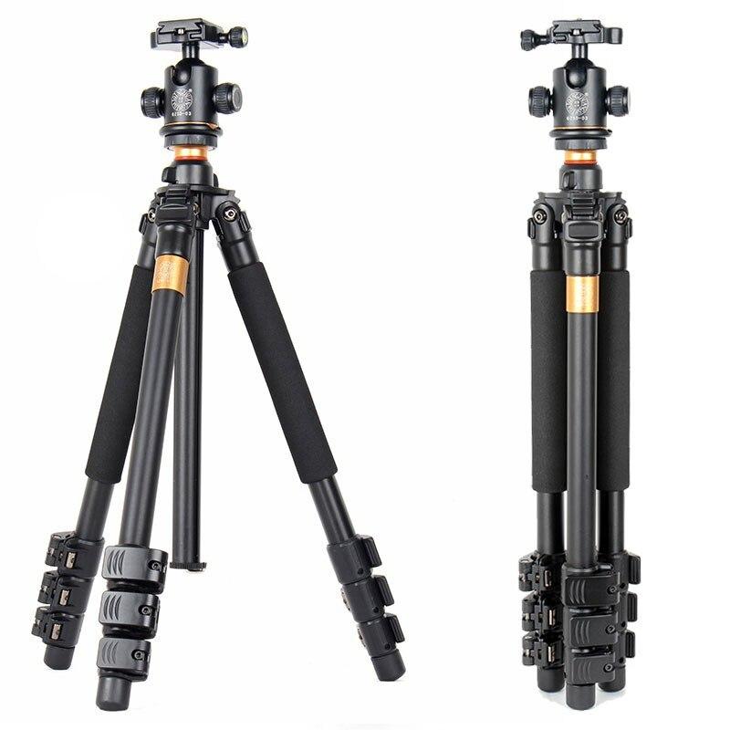 QZSD Q471 Professional Portable Aluminum Tripod With Panoramic Ball head 4 Section Tripode For Canon Nikon Sony DSLR Camera free shipping qzsd q999 portable tripod