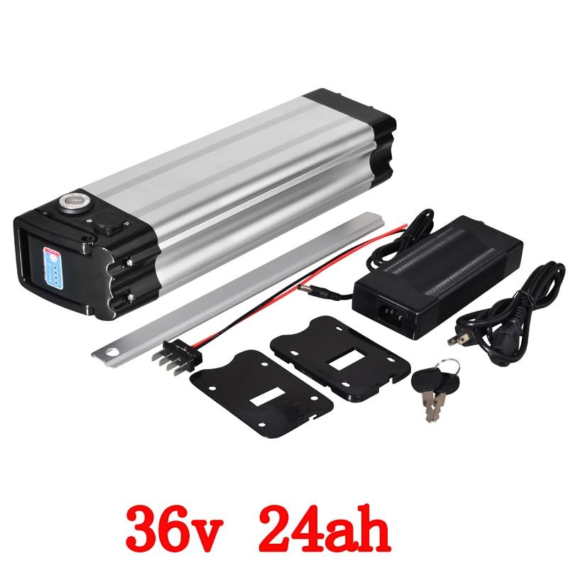 36 36 V 24ah da bateria bicicleta elétrica 1000 V w peixes de prata uso da bateria samsung 36 v 24ah bateria de lítio celular carregador de bateria com 42 V 2A