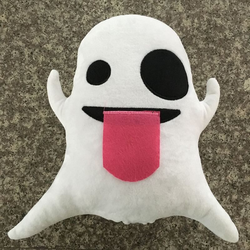 Baby Little Ghost Plush Toy Doll Emoji Expression Pillow Plush Toys Cute Soft Cartoon Smile Face Throw Pillow