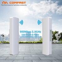 2pcs COMFAST CF E313AC 900Mbps 5.8Ghz Outdoor Wireless AP Bridge 5KM WIFI CPE Access Point 12dBi WI FI Antenna Nanostation CPE