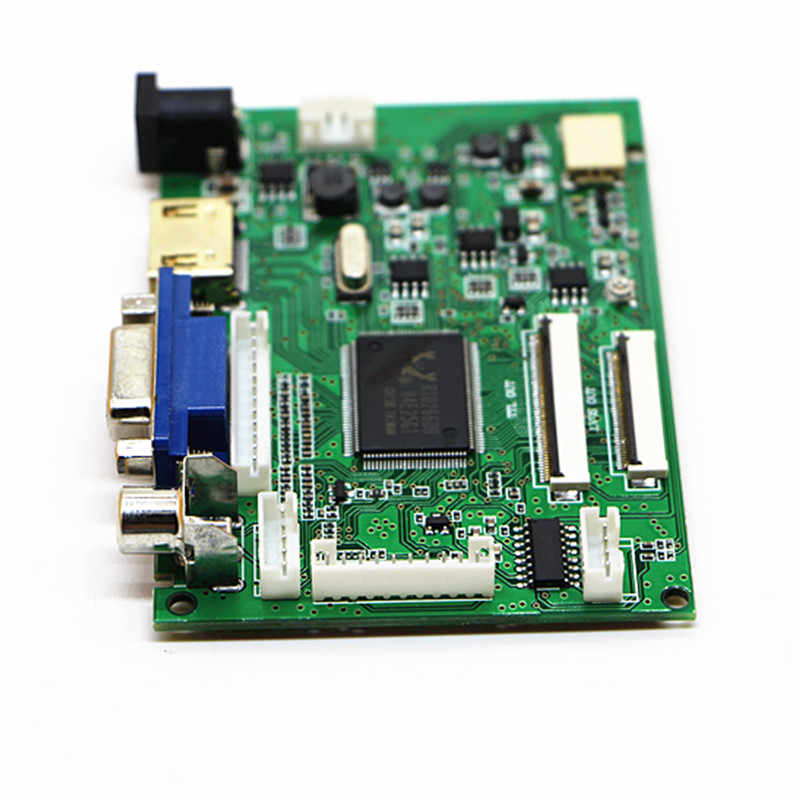 HDMI + VGA + 2AV + ses 40pin 50pin LCD sürücü denetleyici kurulu kiti Panel CLAA070ND02/EJ070NA02/AT070TNA2 V.1 1024*600