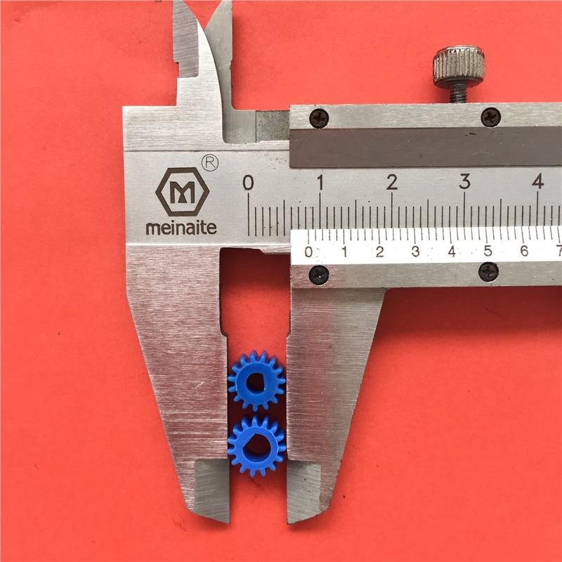 100% Wahr 2 Stücke J043y D Typ Kunststoff Getriebe 0,5 Modul 3/4mm Fit Getriebe Motor Schneiden Rand Welle Diy Teile Hohe Qualität Auf Verkauf Kunden Zuerst