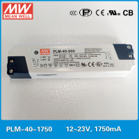 Original MEAN WELL PFC LED power supply PLM 40 1750 40W 1750mA 12~23V with three step analog dimming input 110~295VAC