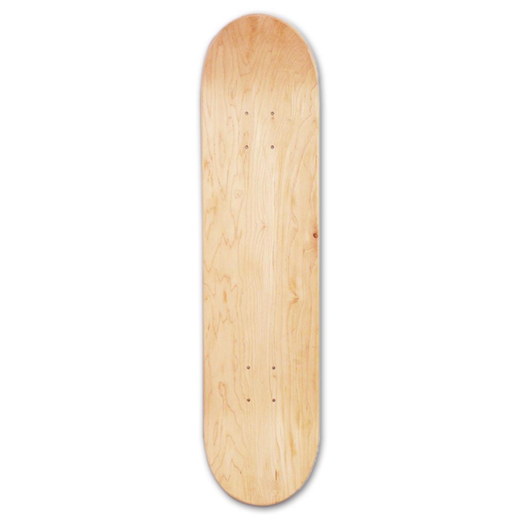 8 pollici 8-Strati di Acero In Bianco Doppio Concavo Skateboard Skate Deck Board Skateboards Ponte Naturale In Legno di Acero Doppio Deformato concavo
