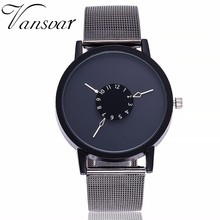 Hot Men Women Popular Stainless Steel Strap Analog Unisex Quartz Wrist Watch Simple Style Designed Bracelet Watch Drop Shipping