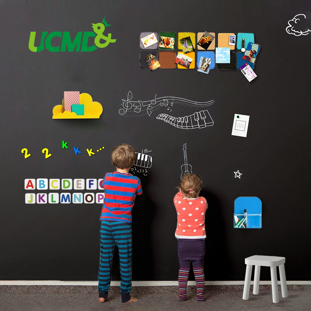 Creative Drawing Toys Self-Adhesive Black Drawing Chalk Board Doodle Toy Writing Painting Blackboard Games Educational Toys Kids