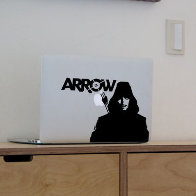 New Green Arrow Sticker Vinyl Decal Laptop Stickers for Apple Macbook  ID61