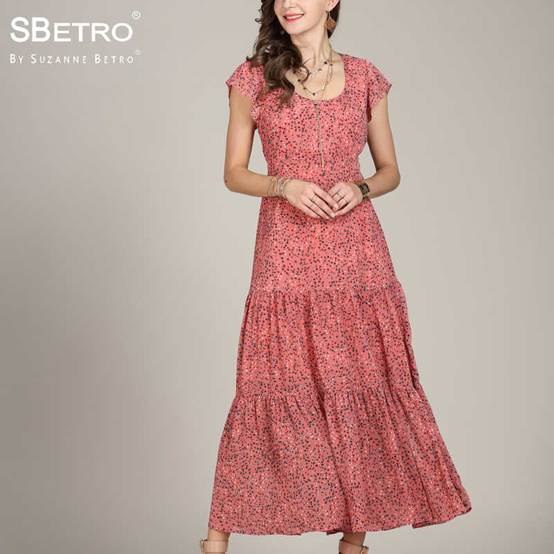 a3765e80739c1 Detail Feedback Questions about SBetro Floral Print Maxi Dress ...