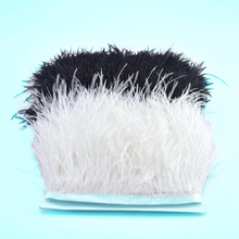 beautiful fluffy 1Meters ostrich feather Trim 8-10cm feathers plumes crafts Sewing for DIY dress wedding ribbon