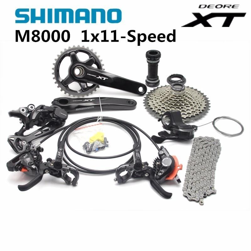 Shimano DEORE XT M8000 1x11 11S Speed Shifter+Rear Derailleur+Chain+ 42T Cassette Groupset Kit