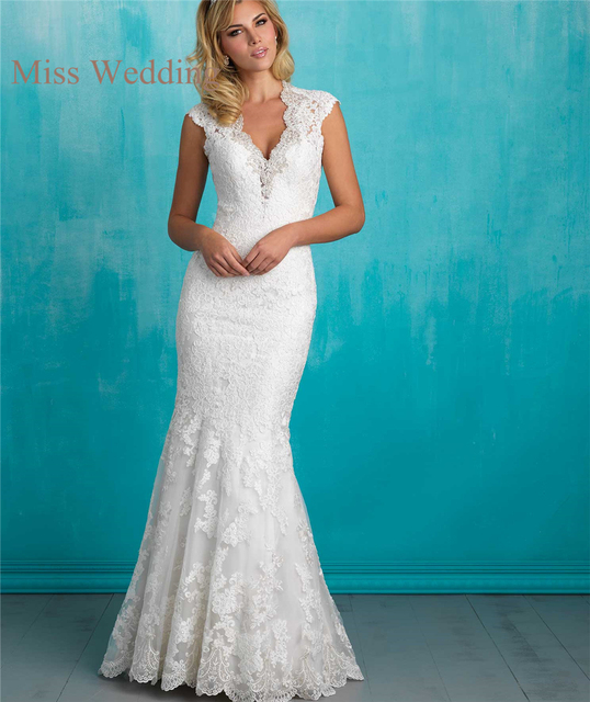 Vintage Inspired Luxury Lace Cap Sleeve Wedding Dress A9318