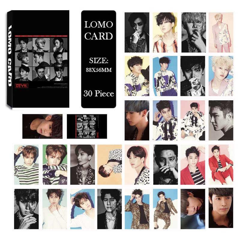KPOP Super Junior PLAY 8-й альбом LOMO карты k-pop Новая мода самодельная бумажная фото карта HD Фотокарта