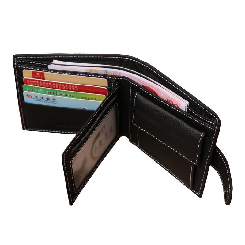 de moedas carteira masculina couro Estilo : European, casual, sport For Wallet