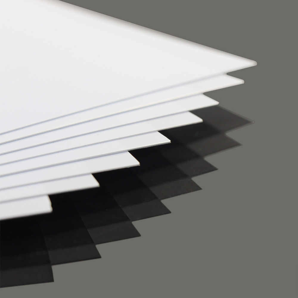ABS0905 8pcs 0.5mm Thickness 200mm x 250mm ABS Styrene Sheets White NEW Architectural