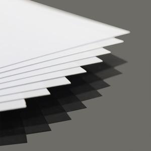 Image 1 - ABS0905 8Pcs 0.5มม.ความหนา200มม.X 250มม.ABS Styreneแผ่นสีขาวใหม่สถาปัตยกรรม