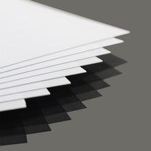 Abs0905 8 pçs 0.5mm de espessura 200mm x 250mm abs folhas de estilos brancos novo arquitetural