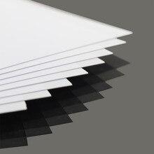 Feuilles de styrène ABS blanc, 8 pièces de 0.5mm dépaisseur 200mm x 250mm, nouvelle architecture, ABS0905