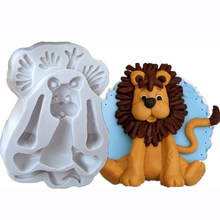 3D Lion Giraffe Rabbit Elephant Animal Shape Silicone Form Fondant Cake Molds Kitchen Biscuit Cookie Soap Cake Decoration Tools(China)