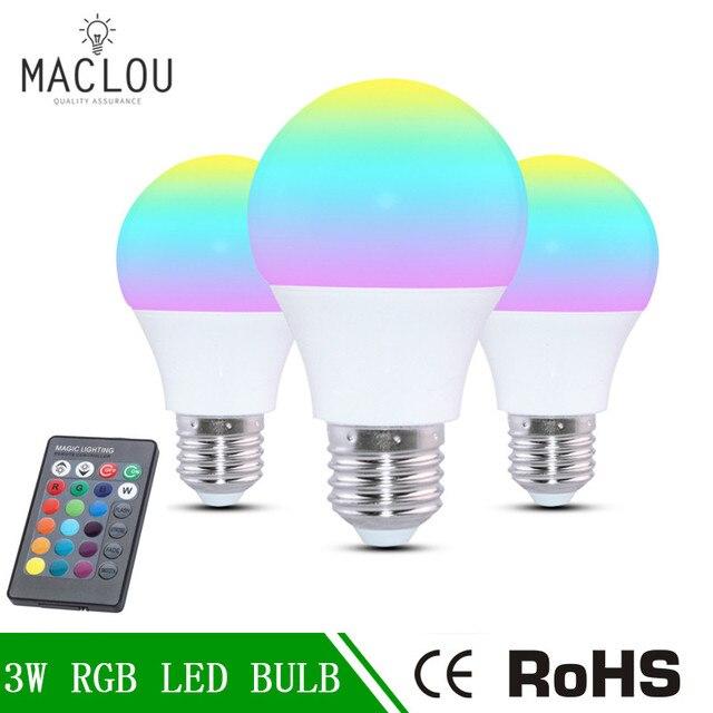 220 v Bunte RGB Led Lampe glühbirne E27 3 watt 5 watt 7 watt ...