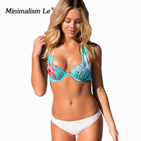 Minimalism Le 2018 New Sexy Bikinis Push Up Swimsuit Women S Swimwear Bikini Set Beach Wear