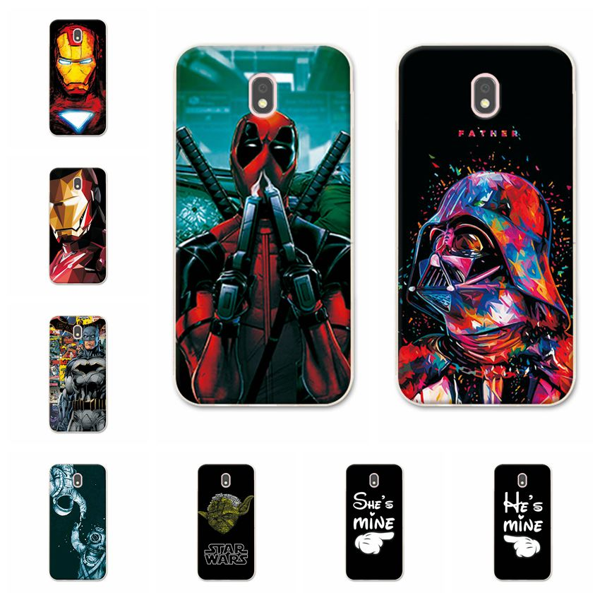 e2cd79daa2b Charming Deadpool Cases For Samsung Galaxy J5 2017 Back Cover iron Man  Phone Case