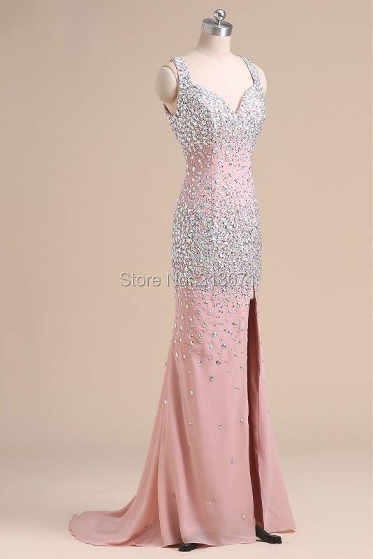 Baijinbai Luxe Nouvelle Mode Rose Élégant Robes De Soirée 2019 - Habillez-vous pour des occasions spéciales - Photo 2