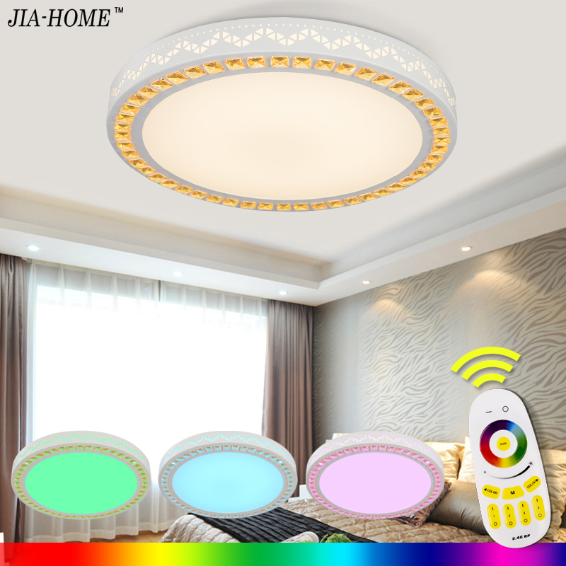 Modern led ceiling light fixtures with remote control dome led ceiling For Living Room with multicolor for drawing room