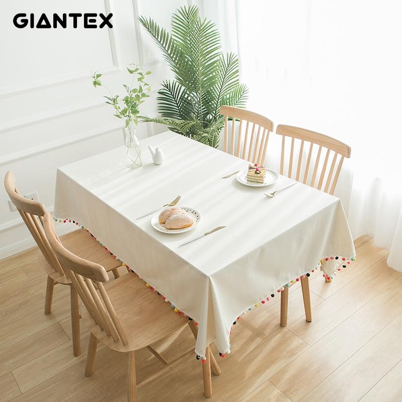 GIANTEX Decorative Table Cloth Tablecloth Rectangular Tablecloths Dining Table Cover Obrus Tafelkleed Mantel Mesa Nappe U2090