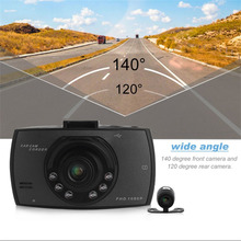 2.7 Inch LCD Double Lens Car Dash Camera Full HD 1080P G30 Video DVR Cam Recorder With Night Vision G-Sensor Dash Cam Hot