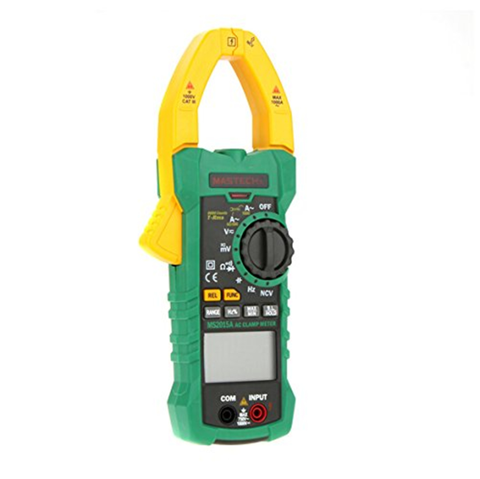 MASTECH MS2015A Auto Range Digital Current Clamp Meter AC 1000A true RMS Multimeter Frequency Capacitance NCV voltage detectio
