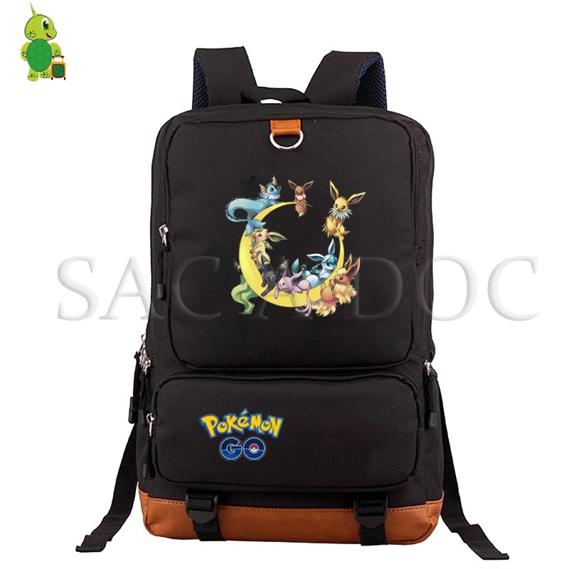Pokemon Pikachu Backpack School Bags For Teenagers Boys Girls College Student Laptop Backpack Eevee Charizard Large Travel Bag
