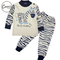 2 Pcs/Set Baby Clothes Set Boys Girls Soft Cotton Zebra T-shirt and Pants Cute Cartoon Animal Pattern Long Sleeve Clothing