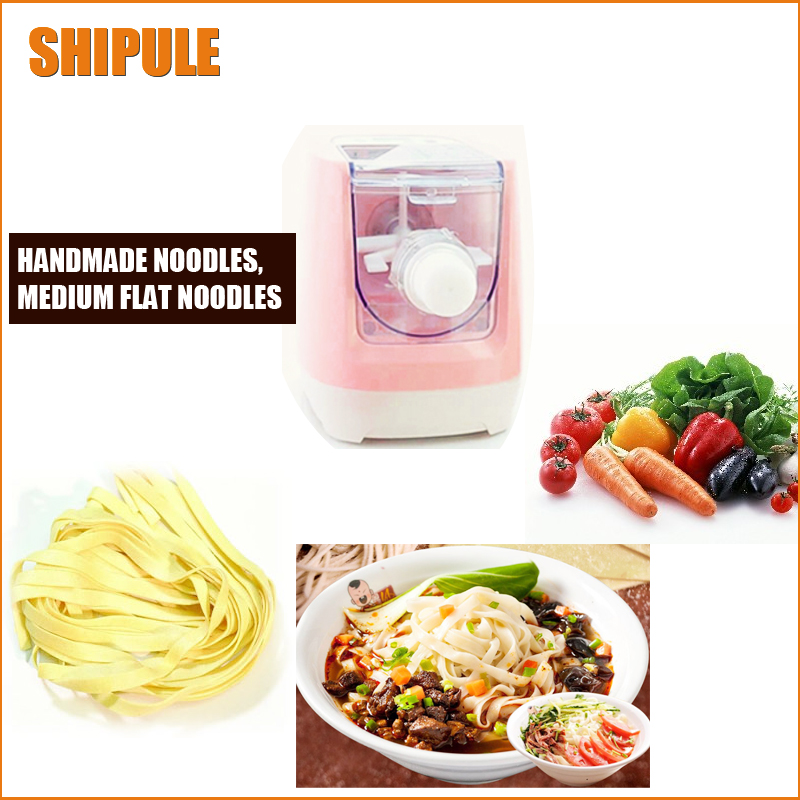 SHIPULE free shipping Household Stainless Steel Pressing Pasta Machine Small electric Noodle Making Machine 1pc household mini pasta machine manual metal spaetzle makers pressing machine pole head mingled split noodle tools