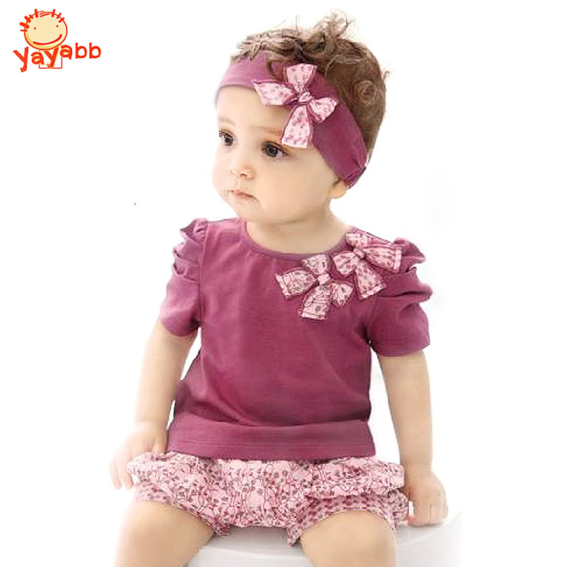2016 Fashion Baby Clothing Set Cotton Newborn Baby Girl Summer Clothes Sets (Sleeve Romper+Hat+Pants)Baby Boy One Pieces Bebe