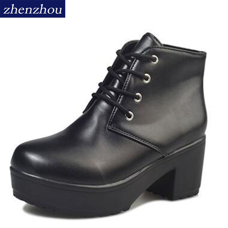 Hot Spring 2017 new special cross straps heavy-bottomed muffin high-heeled boots Martin punk boots rough with women's boots fall trendboots in europe and america heavy bottomed martin boots british style high top shoes shoes boots sneakers