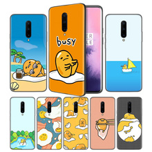 Gudetama Lazy Egg Soft Black Silicone Case Cover for OnePlus 6 6T 7 Pro 5G Ultra-thin TPU Phone Back Protective