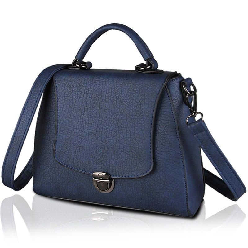 2016 New Retro Nubuck font b Handbag b font Push Lock Chic Flap Bag Women Fashion