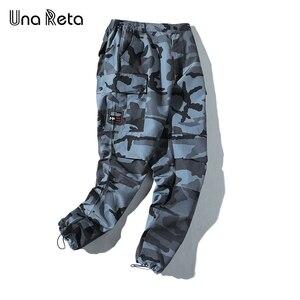 Image 3 - ウナ Reta 迷彩男パンツ新ファッションストリートジョギングパンツカジュアル長ズボンの男性ヒップホップ弾性ウエスト貨物パンツ