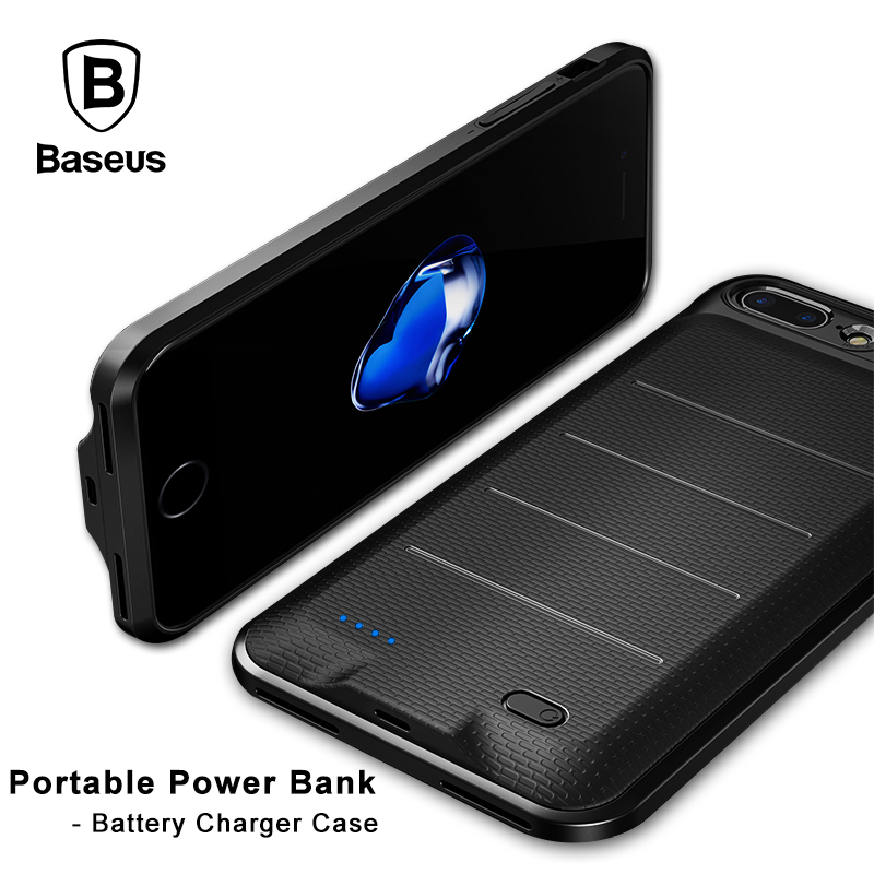 <font><b>Baseus</b></font> Portable Power bank Phone Case Battery Charger Protection Case For <font><b>iPhone</b></font> 6 <font><b>6s</b></font> 7 7Plus 3650mAh Power Bank For <font><b>IPhone</b></font> image