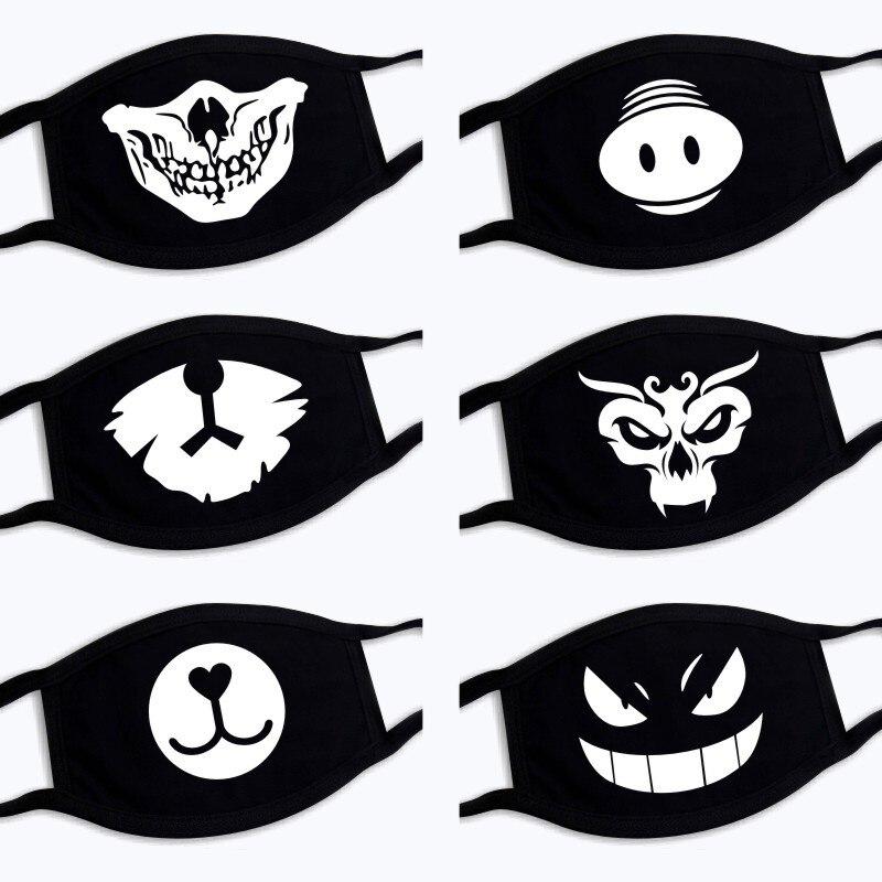 Damen-accessoires Masken 2019 Explosion Modelle Staubdicht Warme Unisex Schwarz Maske Hohe Qualität Baumwolle Mehrere Muster Reusable 3 Schichten Um Der Bequemlichkeit Des Volkes Zu Entsprechen