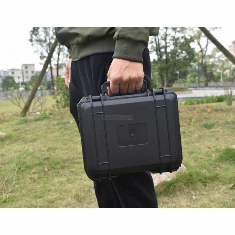 防水プラスチックボックス安全ケース写真楽器ツールケースハードウェアツールボックス耐衝撃性密封された事前カット泡