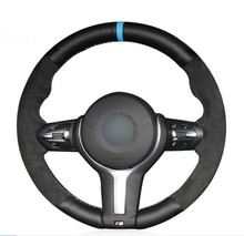 Genuine Leather Black Suede Steering Wheel Cover for BMW F87 M2 F80 M3 F82 M4 M5 F12 F13 M6 F85 X5 M F86 X6 F33 F30