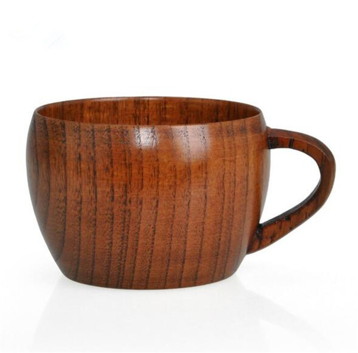 beautiful wooden tea cup