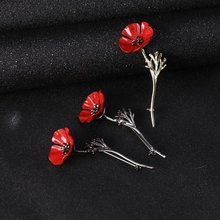 Vintage Fashion british queen red poppy brooch man vintage brooch brooch boy suit accessories Shirt Badge Gift for Women(China)