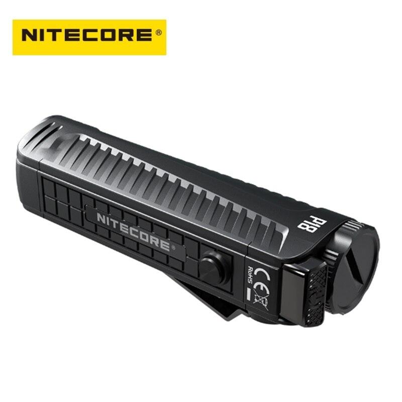 Nitecore P18 Flash lumière Unibody Die-case futuriste CREE XHP35 HD 1800 Lumens LED lampe de poche tactique avec lumière rouge auxiliaire