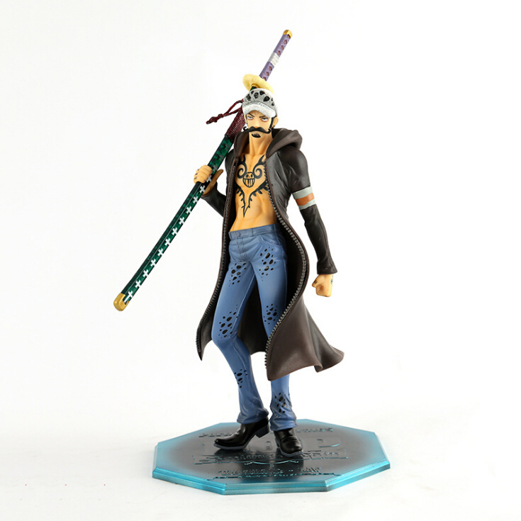 New 25cm Japan anime one piece Trafalgar Law Trafalgar D Water Law pvc action figure model toy Collectib juguetes brinquedos hot anime 24cm trafalgar law one piece action figures anime pvc brinquedos collection figures toys with retail box birthday gift