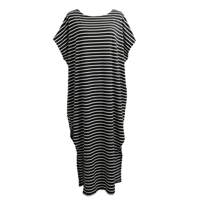 Women Loose Long Striped...