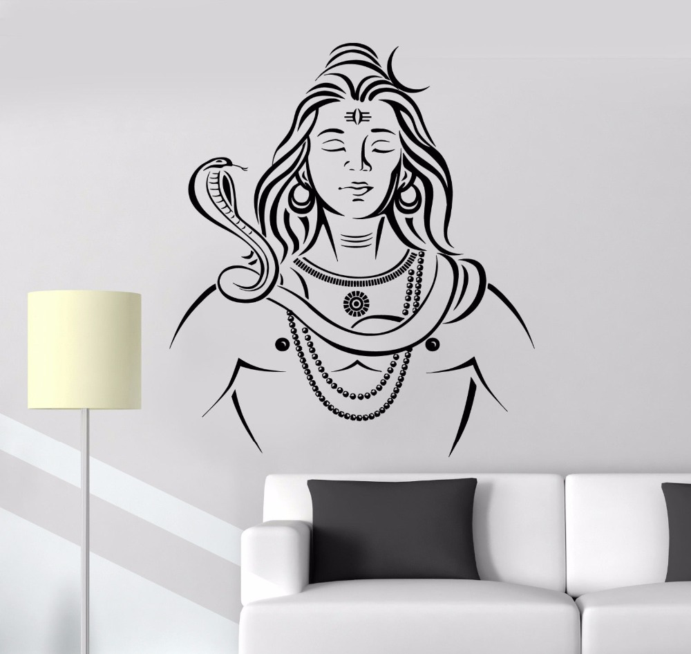 77430b19e0 Detail Feedback Questions about Art Wall Sticker India God Wall ...