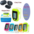 100% New OLED 5 Pcs Fingertip Pulse Oximeter With Audio Alarm & Pulse Sound - Spo2 Monitor Finger Pulse Oximeter